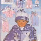 BUTTERICK PATTERN 5092 INFANTS' JACKET, JUMPSUIT, PANTS, HAT SIZE NB/S/M UNCUT