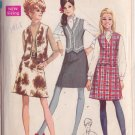 SIMPLICITY PATTERN 7808 MISSES' BLOUSE, SKIRT AND VEST SIZE 10 UNCUT