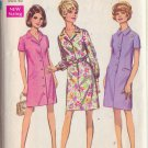 SIMPLICITY PATTERN 7729 MISSES' STEP IN DRESS AND COAT DRESS SIZE 22 1/2