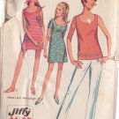 SIMPLICITY PATTERN 7702 MISSES' MINI DRESS, OVERBLOUSE, PANTS, SHORTS SIZE 14