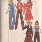 SIMPLICITY PATTERN 7721 YNG JR/TEEN JACKET, VEST, BIAS SKIRT, PANTS 9/10-11/12