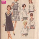SIMPLICITY PATTERN 7767 MISSES' BLOUSE IN 3 VARIATIONS & JUMPER SIZE 18 1/2