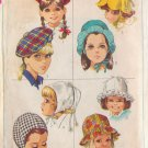 SIMPLICITY PATTERN 7977 CHILD'S SET OF HATS 4 VARIATIONS SIZE 21""