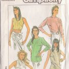 SIMPLICITY PATTERN 8574 MISSES SLIM FITTING TOPS 5 VARIATIONS SZS 6/8/10 UNCUT