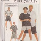 SIMPLICITY PATTERN 8561 UNISEX PULL ON PANTS, SHORTS, SHIRT, TOP SIZE SMALL