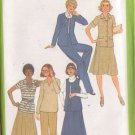 SIMPLICITY VINTAGE PATTERN 8411 MISSES' SKIRT, PANTS, TOP, JACKETS SIZE 18 1/2
