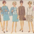 SIMPLICITY VINTAGE PATTERN 8109 MISSES' CARDIGAN JACKET, BLOUSE, SKIRT SZ 16 1/2