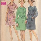 SIMPLICITY VINTAGE PATTERN 8295 MISSES' DRESS WITH 2 COLLARS SZ 16 1/2