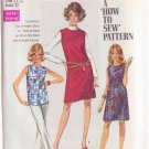 SIMPLICITY VINTAGE PATTERN 8297 YNG JR/TEEN DRESS, OVERBLOUSE, JUMPER SZ 11/12