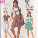 SIMPLICITY VINTAGE PATTERN 8065 YNG JR/TEEN BLOUSE, SKIRT IN 2 LENGTHS SZ 9/10