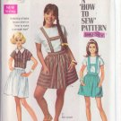 SIMPLICITY VINTAGE PATTERN 8065 YNG JR/TEEN BLOUSE, SKIRT IN 2 LENGTHS SZ 13/14