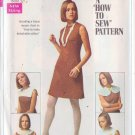 SIMPLICITY VINTAGE PATTERN 8060 MISSES' DRESS WITH DETACHABLE COLLARS SZ 10