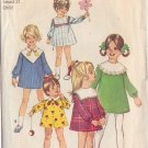 SIMPLICITY VINTAGE PATTERN 8474 CHILD'S DRESS WITH DETACHABLE COLLARS SIZE 2