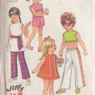 SIMPLICITY VINTAGE PATTERN 8267 CHILD'S PANTS 2 LENGTHS, DRESS, TOP, SASH SIZE 3