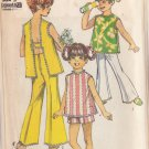 SIMPLICITY VINTAGE PATTERN 8170 CHILD'S SHORTS AND TOP SIZE 4