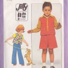 SIMPLICITY VINTAGE PATTERN 8217 CHILD'S VEST, GAUCHOS AND PANTS SIZE 5