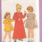 SIMPLICITY VINTAGE PATTERN 8321 CHILD'S DRESS IN 3 VARIATIONS & 2 LENGTHS SIZE 6