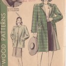 HOLLYWOOD PATTERN 521 MISSES' REVERSIBLE COAT 2 VERSIONS SIZE 14 OLYMPE BRADNA