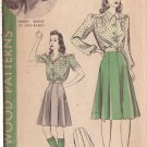 HOLLYWOOD PATTERN 475 MISSES' LUMBER JACKET, BLOUSE, SKIRT SIZE 16 WENDY BARRIE
