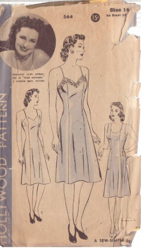 HOLLYWOOD PATTERN 564 MISSES� SLIP IN 2 VARIATIONS SIZE 18, ROSEMARY LANE