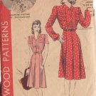 HOLLYWOOD PATTERN 593 MISSES' 1940'S DRESS 2 VARIATIONS SZ 12 ELEANORE WHITNEY