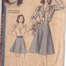 HOLLYWOOD PATTERN 685 MISSES' BLOUSE, SKIRT, 2 LTHS SIZE 14 OLYMPE BRADNA