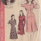 HOLLYWOOD VINTAGE PATTERN 1163 MISSES' 2 PC DRESS SIZE 12 BARBARA BRITTON