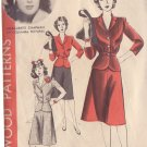 HOLLYWOOD VINTAGE PATTERN 927 MISSES' 2 PC DRESS SIZE 16 MARGUERITE CHAPMAN