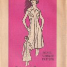PRINTED PATTERN 4698, DATED 1976, MISSES' DRESS 2 VARIATIONS SIZE 12