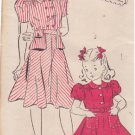 NEW YORK UNPRINTED VINTAGE PATTERN 1434 40'S GIRL'S DRESS 2 VERSIONS SZ 14