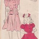 NEW YORK UNPRINTED VINTAGE PATTERN 1434 40'S GIRL'S DRESS 2 VERSIONS SZ 14