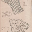 NEW YORK VINTAGE PATTERN 815 MISSES' BLOUSE IN 2 VARIATIONS SIZE 10