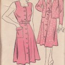 NEW YORK VINTAGE PATTERN 1577 MISSES' DRESS AND JACKET SIZE 18