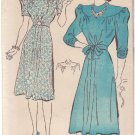 NEW YORK VINTAGE UNPRINTED PATTERN 1534 MISSES' DRESS 2 VARIATIONS SIZE 16