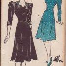 NEW YORK VINTAGE UNPRINTED PATTERN 1478 MISSES' DRESS 2 VARIATIONS SIZE 42