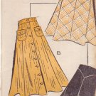 NEW YORK VINTAGE UNPRINTED PATTERN 1668 MISSES' SKIRT 3 STYLES SIZE 32