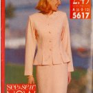 BUTTERICK PATTERN 5617 MISSES' SUIT SIZES 6/8/10