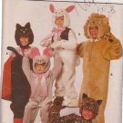 Butterick pattern 6815 Child's Cat, Leopard, Lion, bunny, mouse costumes 8-12