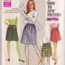 SIMPLICITY VINTAGE PATTERN 7735 YNG JR/TEEN SKIRTS IN 2 LENGTHS SIZE 9/10