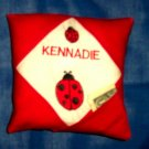 PERSONALIZED tooth fairy pillow - LADYBUGS