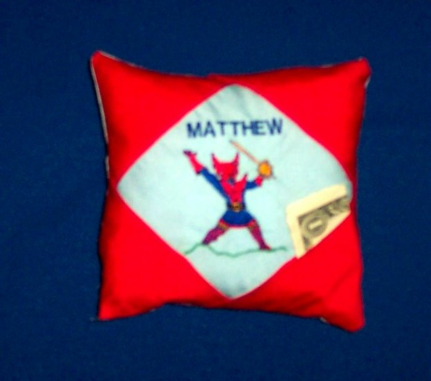 PERSONALIZED tooth fairy pillow SUPERHERO
