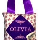 PERSONALIZED tooth fairy pillow PURPLE BUTTERFLY