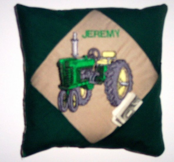 PERSONALIZED tooth fairy pillow TRACTOR