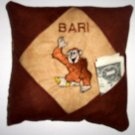 PERSONALIZED tooth fairy pillow MONKEY