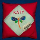 PERSONALIZED tooth fairy pillow DRAGONFLY