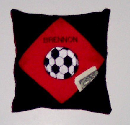 PERSONALIZED tooth fairy pillow SOCCER FAN