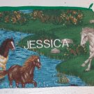 PERSONALIZED SCHOOL SUPPLIES PENCIL CASE CRAYON BAG HORSE DESIGN