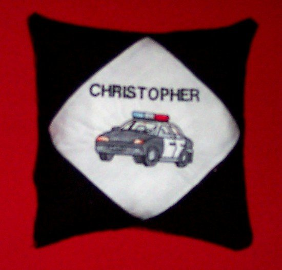 PERSONALIZED Embroidered Tooth Fairy Pillow - Police