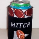 PERSONALIZED EMBROIDERED Koozie Can Cover Soda Wrap - FOOTBALL!!!