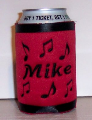 Personalized Koozie Can soda Cover Wrap -Music Design